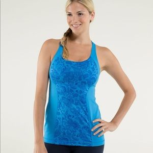Lululemon paisley floral blue energy tank top